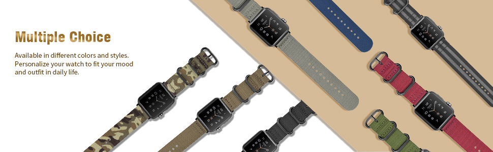 Apple Watch 44mm 42mm Series 6/5/4/3/2/1 iWatch SE watch band nylon