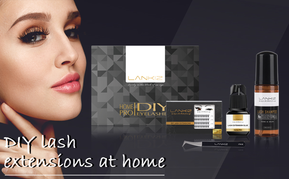 DIY eyelash extension kits