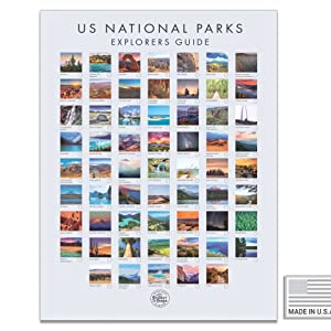 white national park travel posters of national parks tarvel poster national park gifts for kids