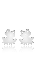 Kawaii Animal Stud Bunny rabbit jewelry Bunny jewelry Cute earrings Hypoallergenic Tiny earrings Geometric Tiny Bunny Post Stud L-SASM006