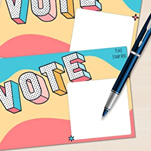 Blank back bulk postcards to voters to support democracy one vote at a time