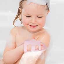 Silicon bath brush