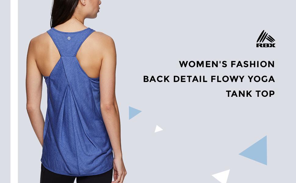 Women's Fashion Back Detail Flowy Yoga Tank Top