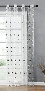 dot sheer curtains