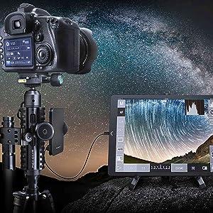 星空 夜空 夜間撮影 DSLR 一眼レフカメラ 水準計 モバイルバッテリー タブレット LEDフラッシュライト