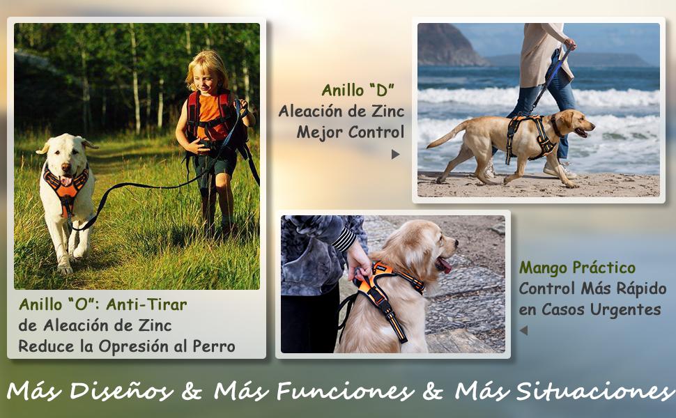 Eagloo Arnes de Perro Antitirones Cómodo Chaleco Ajustable Correa ...
