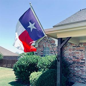 flag pole use in patio garden