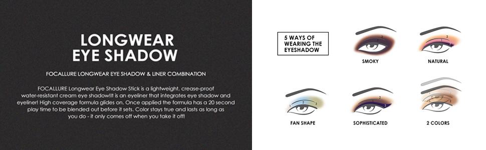 Eyeshadow and Eyeliner Pen, Waterproof Eye Shadow Pencil, Hypoallergenic Eyeshadow