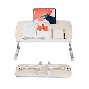 Laptop desk with tablet holder