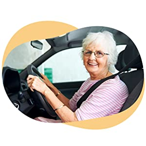 Picture of senior-aged woman driving