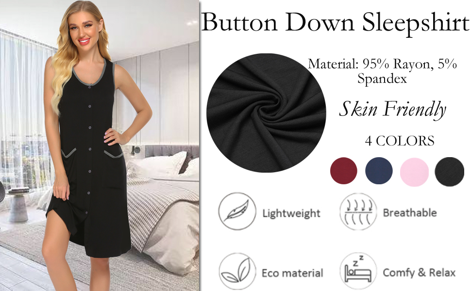 button down sleepwear