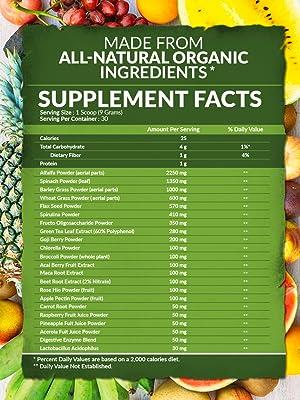 green superfood powder organic green super food smoothie powder green drink vegetable powder blend