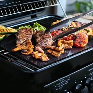 tapis de cuisson  barbecue au gaz ensemble cuisson oven liner