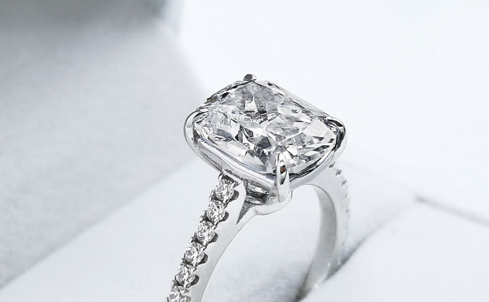 Oval cz Engagement ring