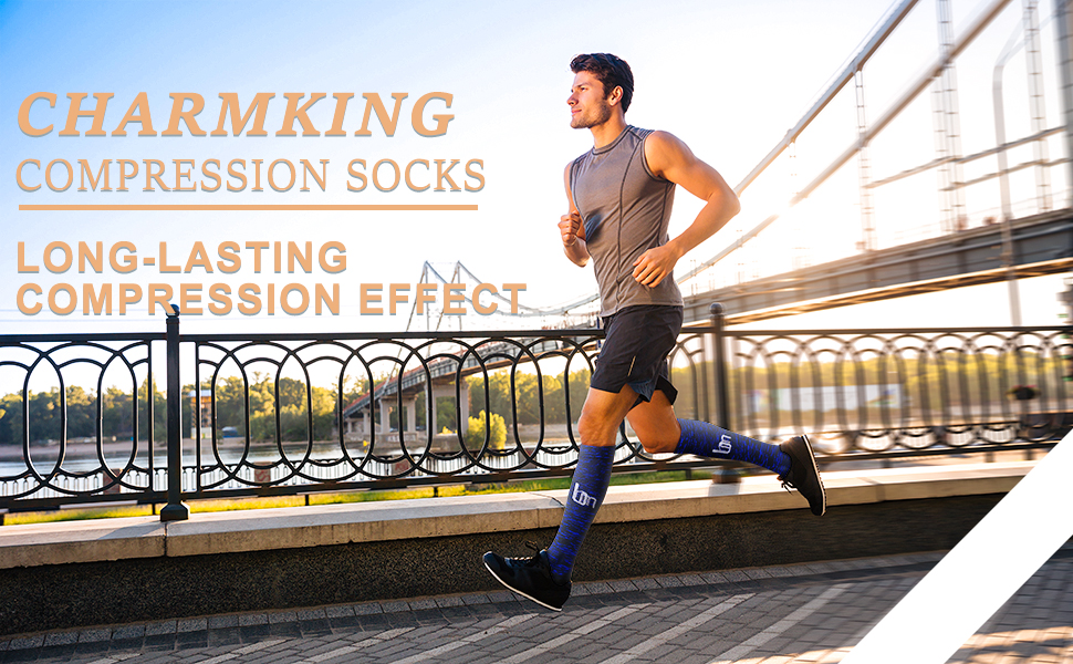 Travel Mountaineering CHARMKING Compression Socks 15-20 mmHg is Best Graduated Athletic /& Daily for Men /& Women Running