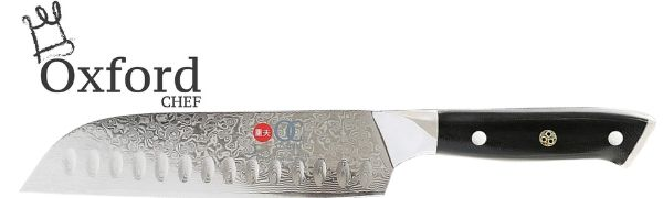 Santoku chef's knife 7 inch vg10 damascus high carbon stainless steel oxford chef