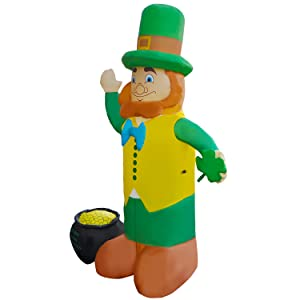 """All Weather Plastic BANNER PATRICK/'S DAY  Pot of Gold /& Rainbow    63/"""" ST"""