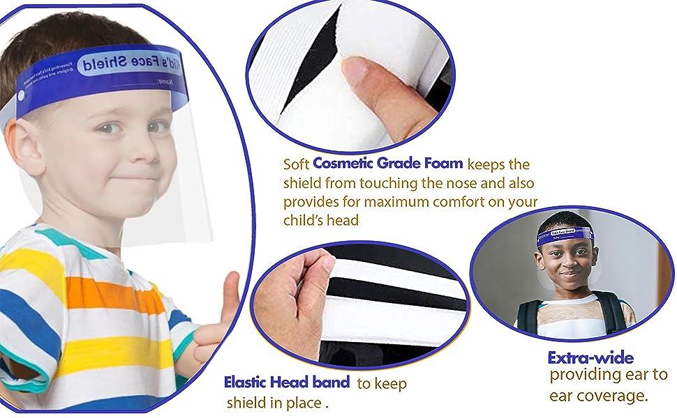 face sheild protection face mask kids size kid masks