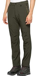 Men's Outdoor Softshell Fleece Cargo Pants Waterproof Windproof Tactical Snow Ski Hiking Pants