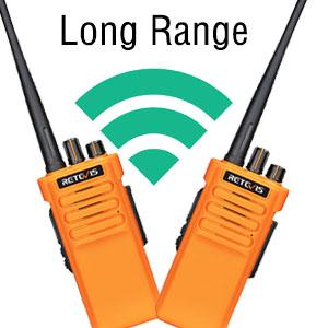 long range walkie talkies has strong penetration in city