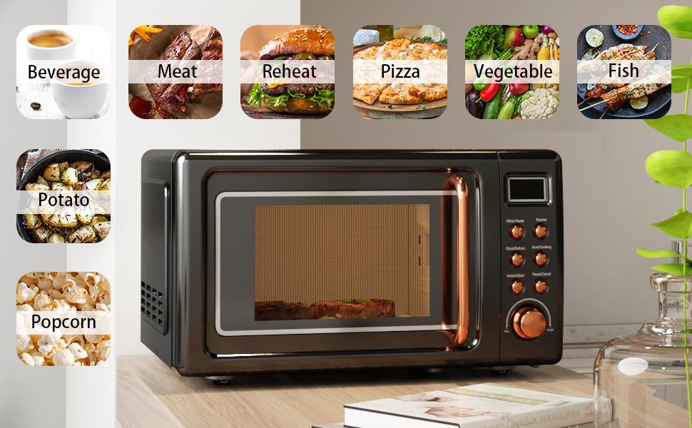 Retro Countertop Microwave Oven big size
