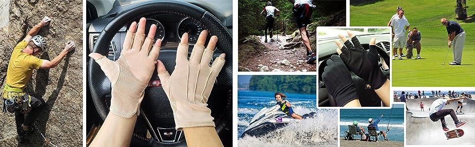 Cotton Breathable Sunblock Gloves
