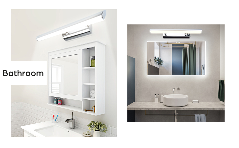 Applique Modern Lamp LED 9w Frosted Glass Lights from Bathroom Mirror 230v 4000k