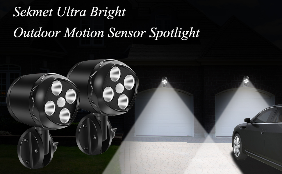 motion-activated Ultra Bright Spotlight