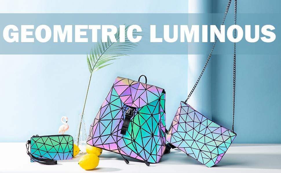 Geometric Luminous Backpack for Women