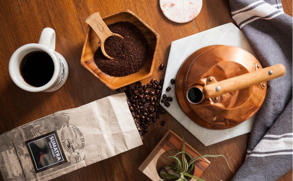 coffee organic ethical fair trade bean whole bag roast fresh premium usda certified camano island
