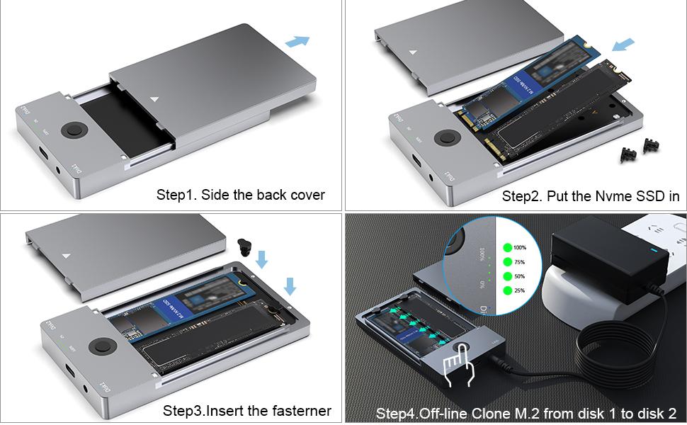 OS X//Linux Festplatten-Duplikator-Dock M.2 SSD-Duplikator 2-Bay Offline-Klon Diskettenkopie SATA-Dockingstation K3016SG1 F/ür Windows XP EU 7//8//10
