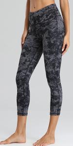 Womens Yoga Capris Running Pants Workout Leggings