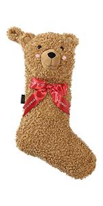 FAO Schwarz Curly Bear Holiday Stocking