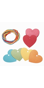 heart colorful paper gift tags wrap craft blank presents labels printable thank you thanksgiving