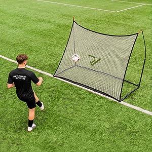 Vert fluo Football Master TM Filet de rebond r/églable sur une face