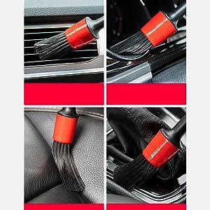 Lot de 5 Auto Brosse Poils Fibre Chimique Doux Manche en Plastique pour Nettoyer//Int/érieur//Moteur//des Embl/èmes//Int/érieur//Ext/érieur//A/ération AIXMEET Automatique de Voiture D/étail Brosse