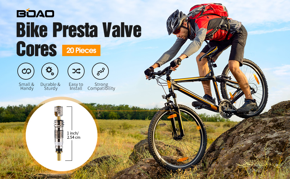 2 Presta Removable French Valve Cores Bicycle Road//MTB Universal Replacement