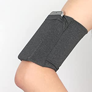 dark grey armband for cell phone keys earphone cards cash id coins walking running camping sports