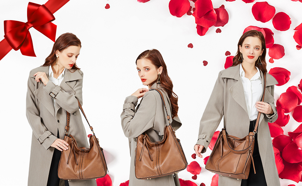 Montana West Genuine Leather Concealed Carry Purses And Handbags For Women Handgun Crossbody Bag