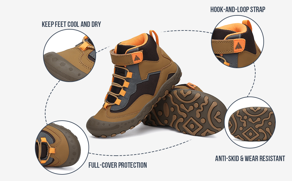 breathable non-slip hiking shoes