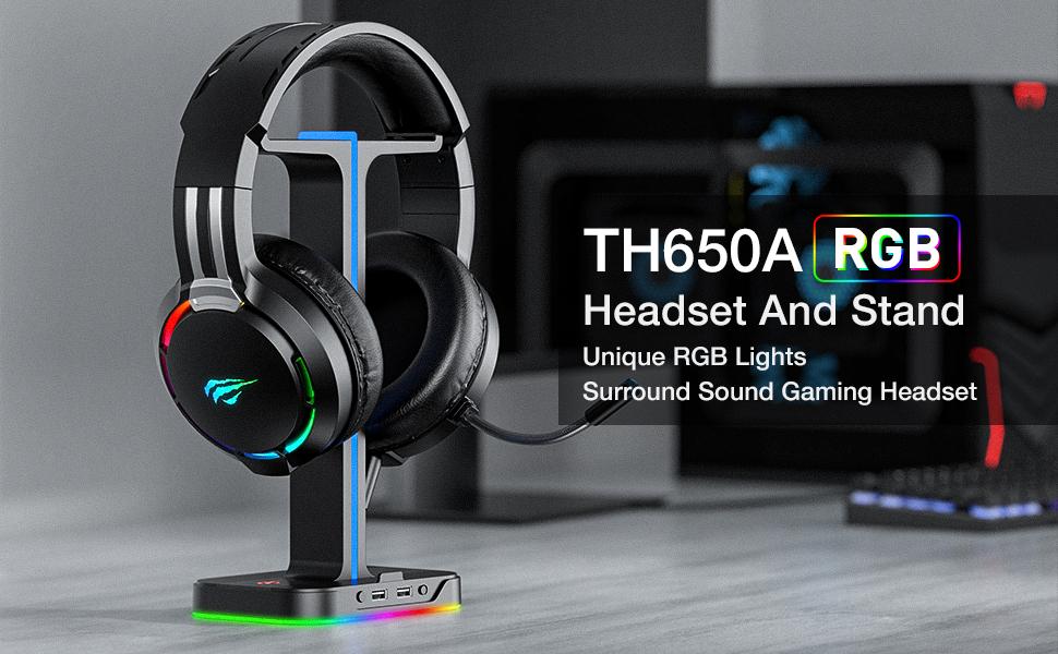 rgb headset and headphone stand