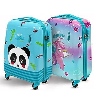 Maleta de equipaje de mano Ryanair para niños y niñas con diseño de panda o unicornio