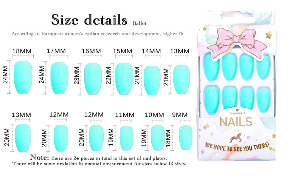 Matte Fake Nails