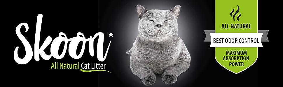 skoon all natural cat litter logo mascot header