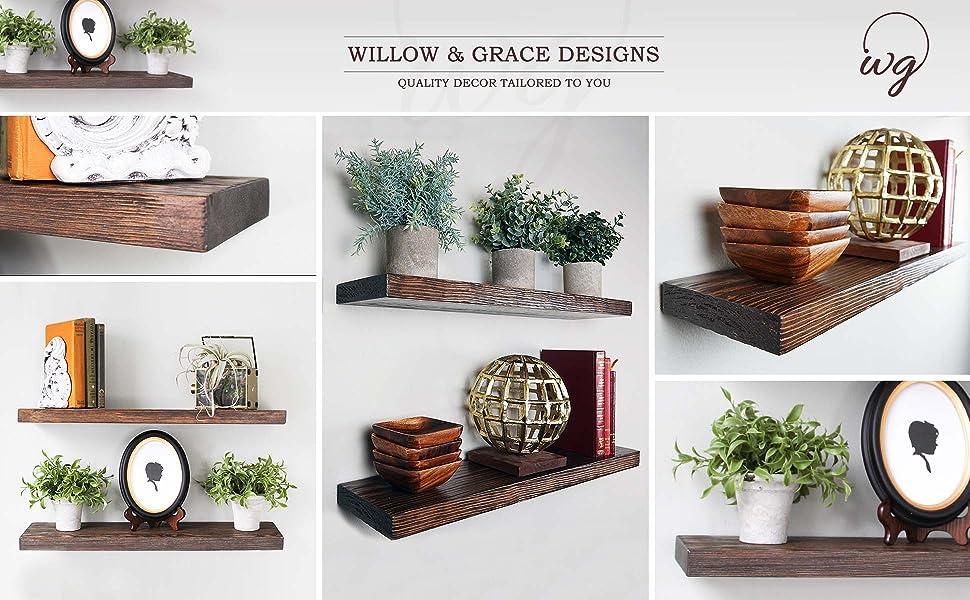 rustic shelves, wood shelves, wall shelves, farmhouse shelves