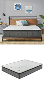 Zinus Cool Touch Pocket Spring Single Double Queen King Mattress bed online australia cheap