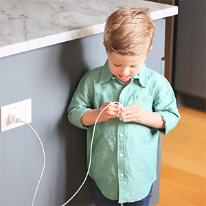 Kid not being able to access the end of the phone charger