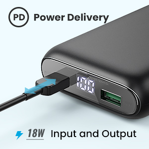 18W Power delivery external battery charger