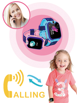 SOS Emergency Call 2 way call 1.54 inch Touch Screen Wristwatch Watch for Students Cellphone