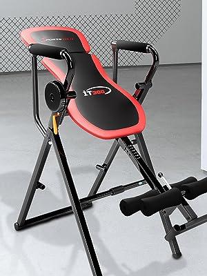 Barre de Traction Sportstech Table d/'Inversion Multifonctions IT300 Musculation Traction 6-en-1 Muscles dorsaux 90/° Levier Intelligent Banc de Musculation 0/° Repliable Montage Simple